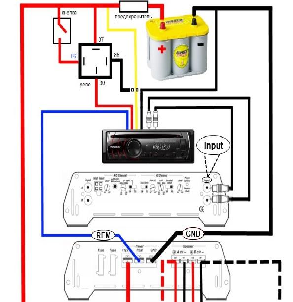 Подключение 2х канального