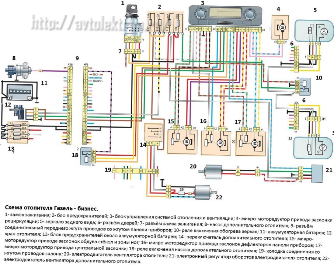 Схема печки газель фото фото 917
